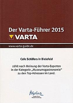 Schäfers Cafe in der Kunsthalle Bielefeld im Varta Führer 2015