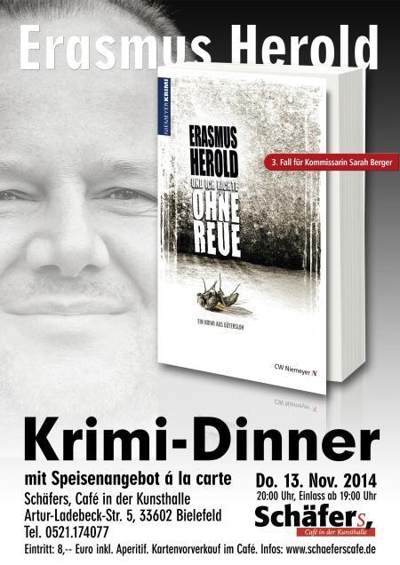 Krimi dinner erasmus herold schäfers cafe kunsthalle bielefeld