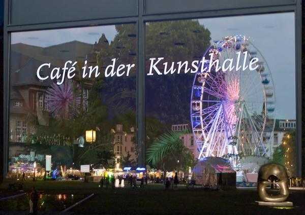 kunsthalle bielefeld spiegelungen fenster cafe